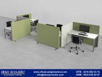 Ofis Akustik Ara Bölücü Paravan Uygulaması
